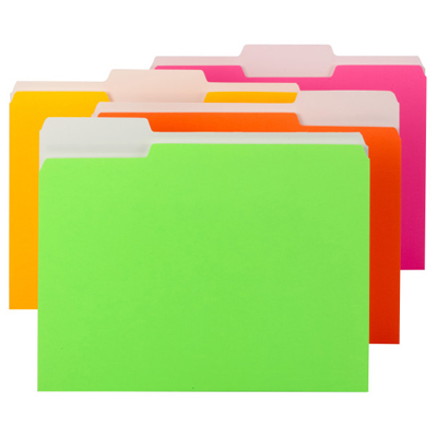Colored File Folders with Single Ply Tab