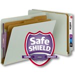 End Tab Classification Folder with SafeSHIELD Coated Fastener Technology