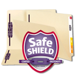 End Tab Fastener Folders with SafeSHIELD Coated Fastener Technology