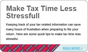 Make Tax Time Less Stressful