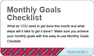Monthly Goals Checklist