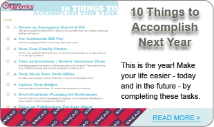 10 Things to Accomplish Next Year