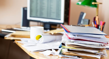 Avoid Messy Desk Syndrome - Control the Clutter!