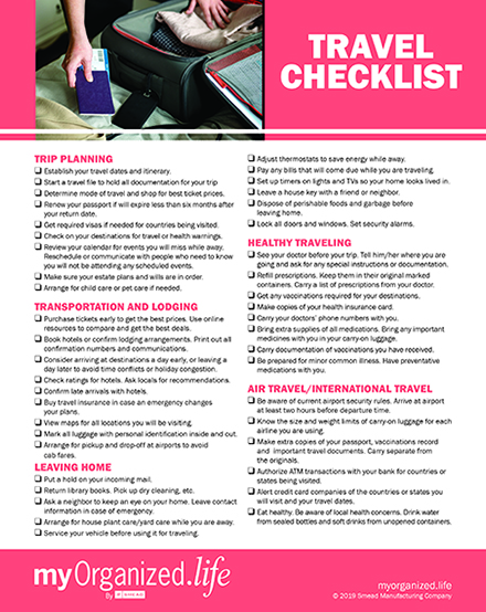 Checklist General Travel Tips