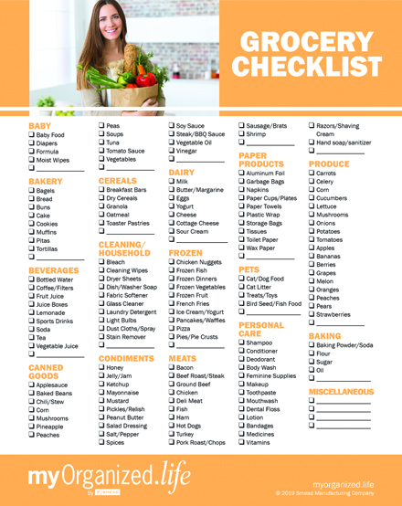 Checklist Groceries – Grocery List