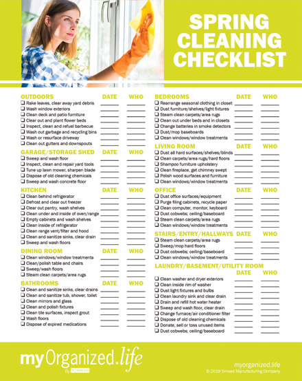 Spring Cleaning Checklist checklist: spring cleaning