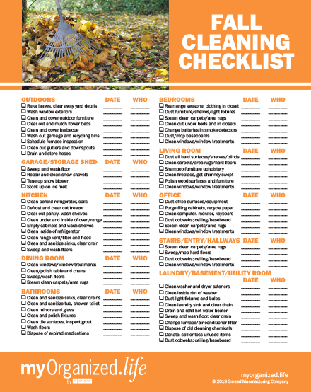 Checklist Fall Cleaning