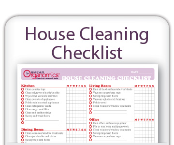 Clean House House Schedule Printable