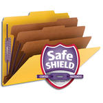 Smead Pressboard Classification Folder with SafeSHIELD® Fasteners 14098, 3 Dividers, 3