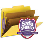 Smead PressGuard® Classification File Folder with SafeSHIELD® Fasteners 14203, 2 Dividers, 2