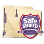 Smead Fastener File Folder with SafeSHIELD® 14555, 2 Fasteners, Reinforced 1/3-Cut Tab, Letter, Manila