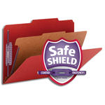 Smead Pressboard Classification Folder with SafeSHIELD® Fasteners 18731, 1 Divider, 2