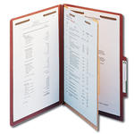 Smead 100% Recycled Pressboard Classification Folder 18744, 1 Divider, 2