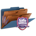 Smead Pressboard Classification File Folder with Wallet Divider and SafeSHIELD® Fasteners 19077, 2 Dividers, 2
