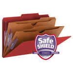 Smead Pressboard Classification File Folder with Wallet Divider and SafeSHIELD® Fasteners 19082, 2 Dividers, 2