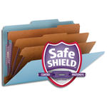 Smead Pressboard Classification File Folder with SafeSHIELD® Fasteners 19094, 3 Dividers, 3