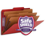 Smead Pressboard Classification File Folder with SafeSHIELD® Fasteners 19095, 3 Dividers, 3