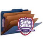 Smead Pressboard Classification File Folder with SafeSHIELD® Fasteners 19096, 3 Dividers, 3