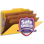 Smead Pressboard Classification File Folder with SafeSHIELD® Fasteners 19098, 3 Dividers, 3