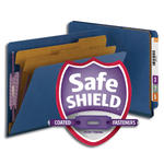 Smead End Tab Pressboard Classification Folder with SafeSHIELD® Fasteners 26784, 2 Dividers, 2