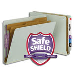 Smead End Tab Pressboard Classification Folder with SafeSHIELD® Fasteners 26810, 2 Dividers, 2