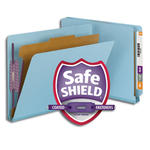Smead End Tab Pressboard Classification Folder with SafeSHIELD® Fasteners 26881, 1 Divider, 2