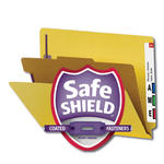 Smead End Tab Pressboard Classification Folder with SafeSHIELD® Fasteners 26889, 1 Divider, 2