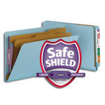 Smead End Tab Pressboard Classification Folder with SafeSHIELD® Fasteners 29781, 2 Dividers, 2