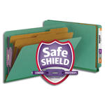 Smead End Tab Pressboard Classification Folder with SafeSHIELD® Fasteners 29785, 2 Dividers, 2