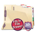 Dual Tab Fastener Folder with SafeSHIELD® Coated Fastener Technology and Shelf-Master® Reinforced Tab