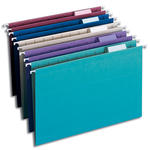 Smead Hanging File Folder with Tab 64156, 1/5-Cut Adjustable Tab, Legal, Assorted Colors