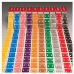 Smead XLCC Color-Coded Numeric Label 67250, 0-9, Label Roll, Assorted Colors