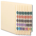 Smead BCCRN Bar-Style Color-Coded Numeric Label 67380, 0-9, Label Roll, Assorted Colors