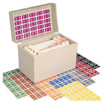 Smead ETSN Color-Coded Numeric Label 67480, 0-9, Label Sheet, Assorted Colors