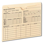 Smead Employee Record File Jacket 77100, Reinforced Straight-Cut Tab, Flat-No Expansion, Letter, Manila