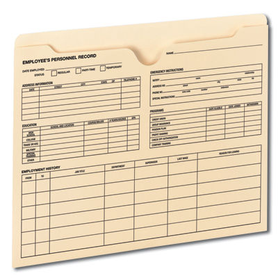 File Jackets keep information secure & easily accessible