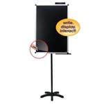 "24"" x 36"" Lobby Stand with Clear Overlay Black"