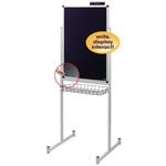 "24"" x 36"" Promo Stand Single Side with Clear Overlay Black"