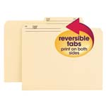 Smead Reversible File Folder 10145, 1/2-Cut Printed Tab, Letter, Manila