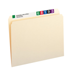 Smead File Folder 10300, Straight-Cut Tab, Letter, Manila