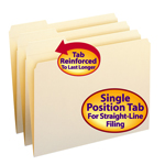 Smead File Folder 10335, Reinforced 1/3-Cut Tab Left Position, Letter, Manila