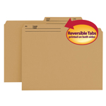 Smead Reversible File Folder 10340, 1/2-Cut Printed Tab, Letter, Natural Sand