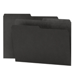 Smead Reversible File Folder 10364, 1/2-Cut Printed Tab, Letter, Black