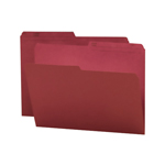 Smead Reversible File Folder 10369, 1/2-Cut Printed Tab, Letter, Maroon