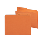 Smead Reversible File Folder 10370, 1/2-Cut Printed Tab, Letter, Orange