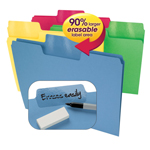 Smead Erasable SuperTab® File Folder 10480, Erasable 1/3-Cut Tab, Letter, Assorted Colors