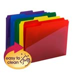 Poly File Folder with Slash Pocket