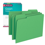 Smead File Folder 12143, 1/3-Cut Tab, Letter, Green