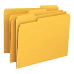 Smead File Folder 12243, 1/3-Cut Tab, Letter, Goldenrod