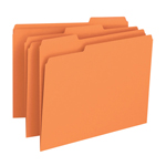 Smead File Folder 12543, 1/3-Cut Tab, Letter, Orange